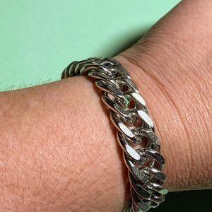 Men's Vintage Monet Bracelet with safety chain